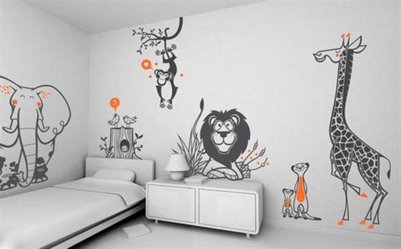 Смешные рисунки на стенах своими руками 52