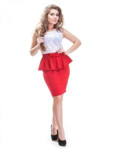 С чем можно носить красную юбку карандаш