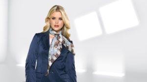 Как красиво завязать шелковый шарф