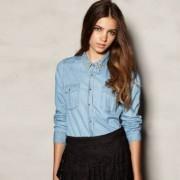 Что можно носить вместе с джинсовой рубашкой