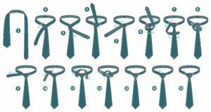 Различные способы завязывать галстук