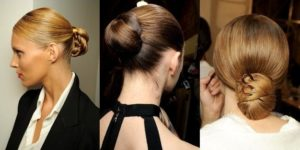 Объемные пучки на средние волосы