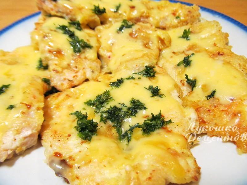 Филе курицы с ананасами и сыром в духовке рецепт пошагово
