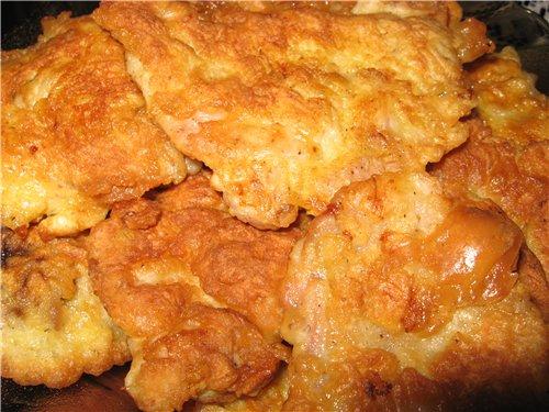 отбивные из куриной грудки в кляре рецепт с фото пошагово